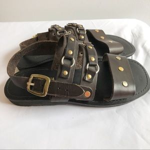 Lido Vida Romana leather gladiator sandals Sz 10